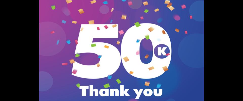 50K Likes!